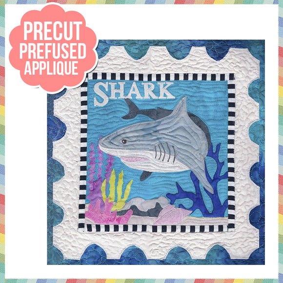 Sea Life-Shark Laser Cut Pre Fused Applique Quilt Kit