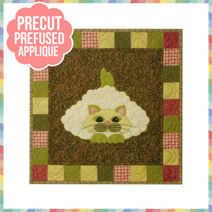 Garden Patch Cats - Caulipuss Laser Cut Pre Fused Applique Quilt Kit