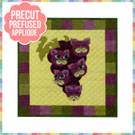 Garden Patch Cats - Concord Kitties Laser Cut Pre Fused Applique Quilt Kit