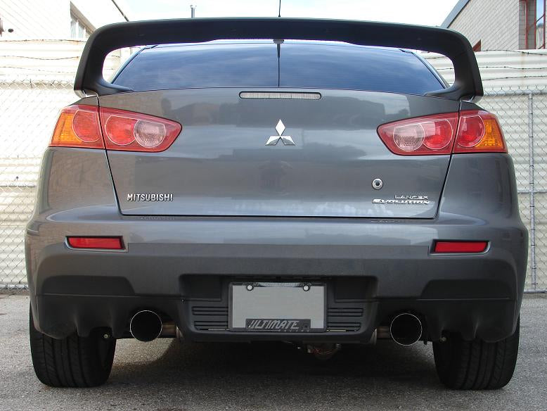 Evo X 3 Dual Exit Turboback Exhaust: Evo X Ultimate Racing Exhaust At Woreks.co