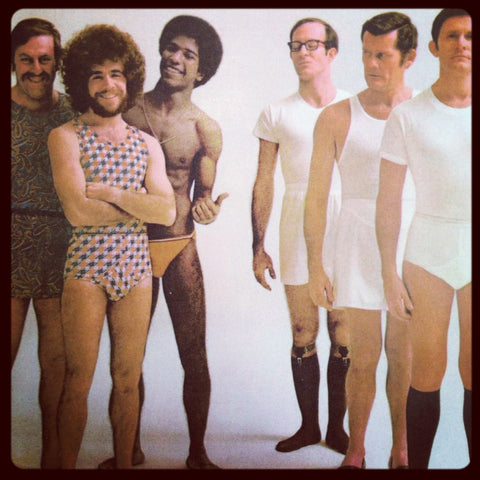men in underwear 70's man san francisco vintage advertisement mad men current trends in lingerie