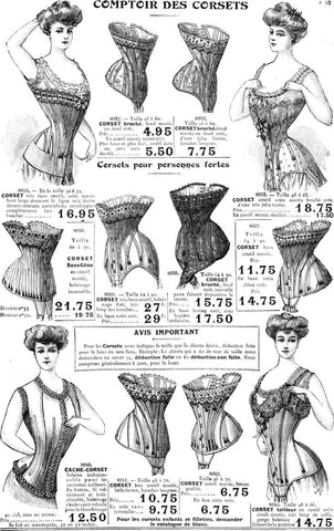 whalebone corset vintage antique pre-wwii edwardian where can i shop in pittsburgh