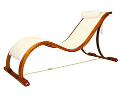 Weatherproof white mahogany intimacy chaise