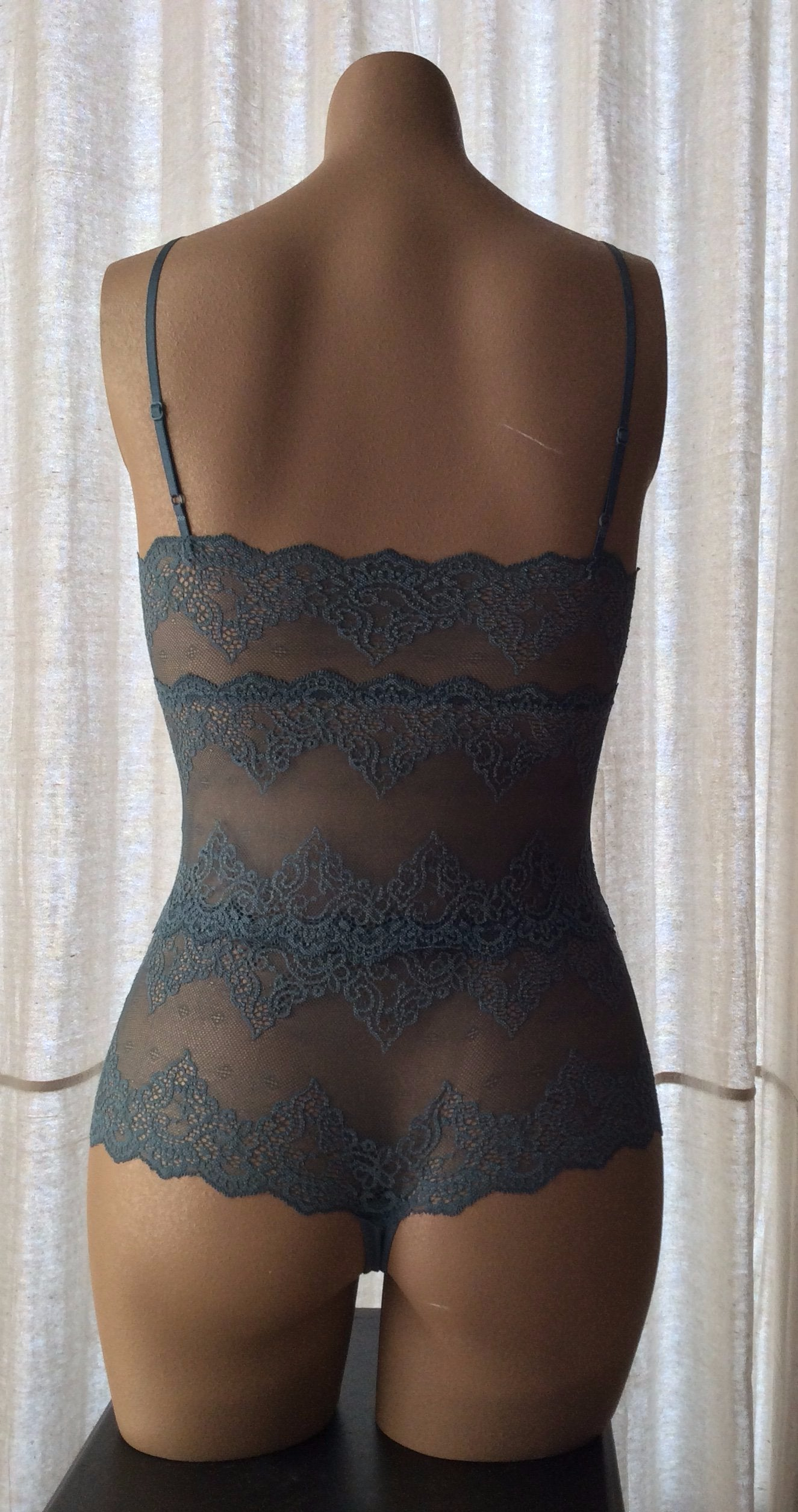 Cheeky Petrol Lace Bodysuit