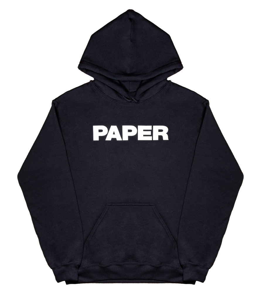 BREAK THE INTERNET Paper Hoodie Black