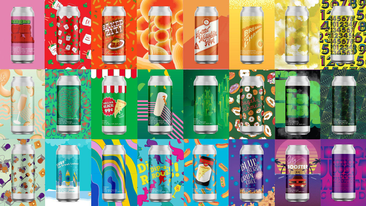 Other Half Brewing's IPAs beer can designs overview