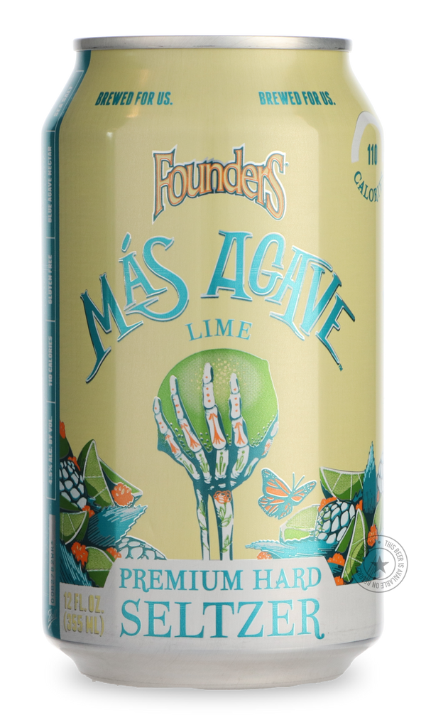 Founders Mas agave lime hard seltzer can