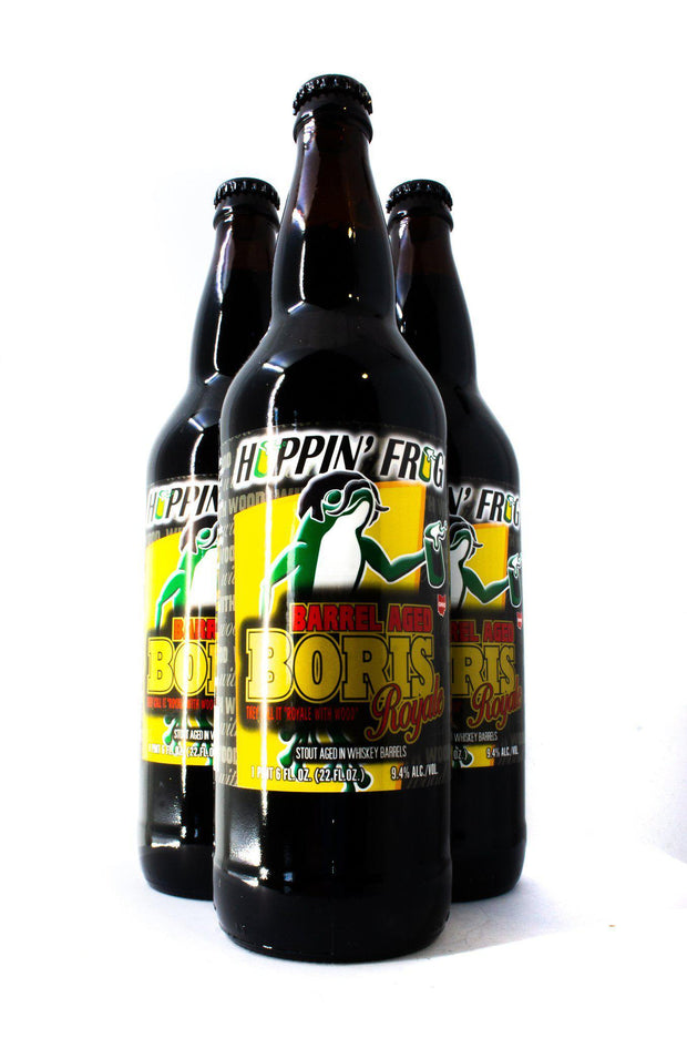 Find and buy Hoppin' Frog Barrel Aged BORIS Royale at Beer Republic. Europe's no.1 store for the best craft beer from America, United States, Russia, New Zealand, Canada, Norway, Estonia, The Netherlands, Holland, Spain, Belgium, Latvia, Sweden, like ipa, stout, porter, barley wine, pale ale, blond, quadrupel, hard seltzer, dark, light beer and more.