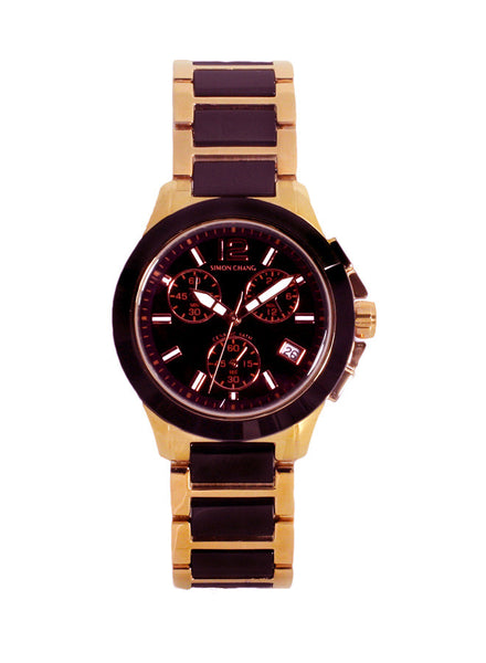Simon Chang SC129.8 Rose Gold Black Ceramic