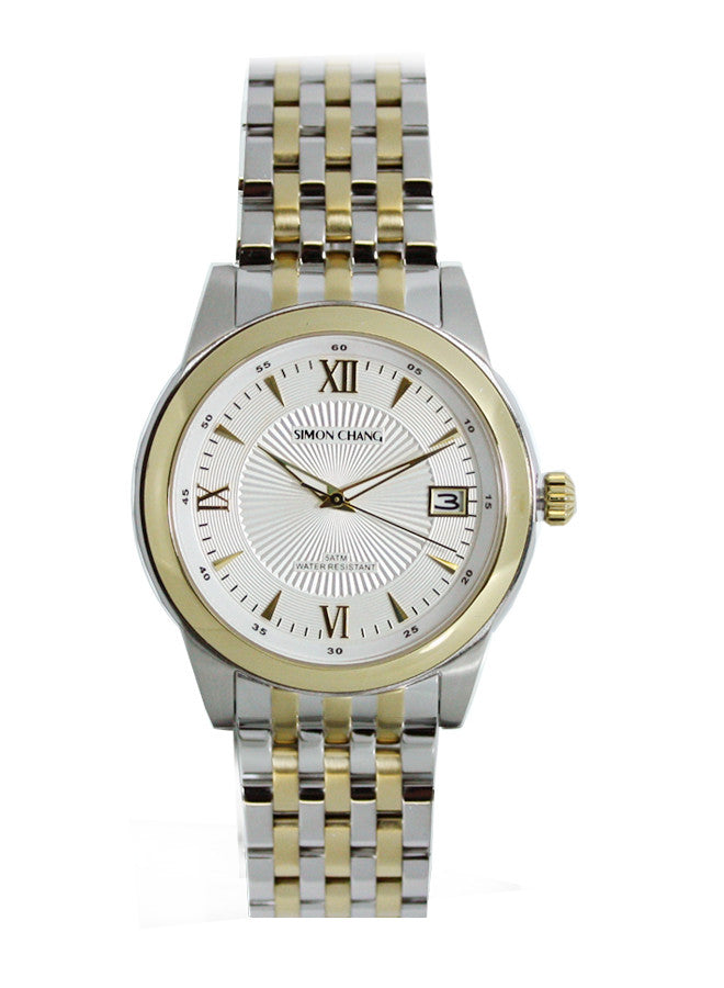 Simon Chang SC234.5WHT 2-tone 14kt gold plated Signature