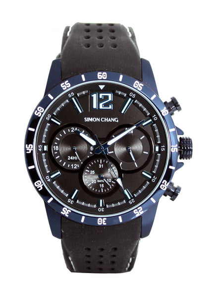 Simon Chang SC238.1 Black Tennis Chronograph