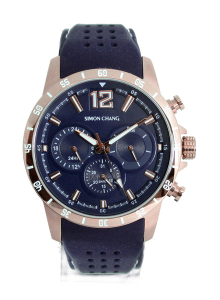 Simon Chang SC238.1 Blue Tennis Chronograph