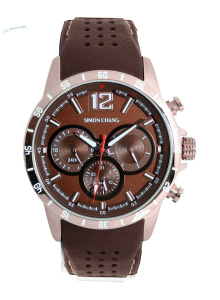 Simon Chang SC238.1 Brown Tennis Chronograph