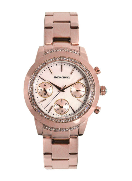 Simon Chang SC239.9 Mother of Pearl Lady Chronograph