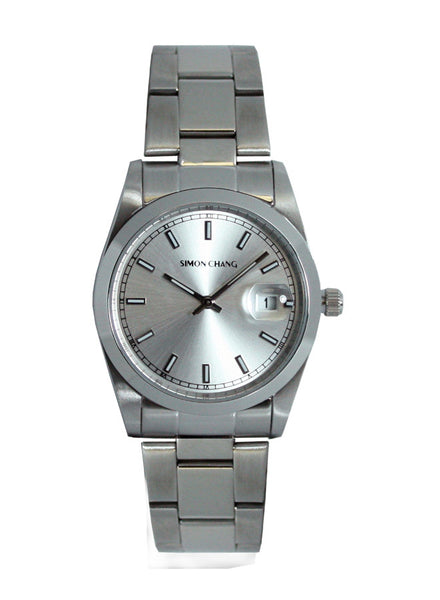 Simon Chang SC240.4 Silver sunray large date