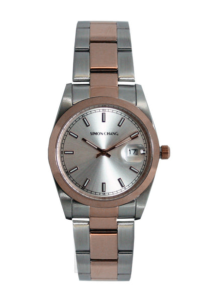 Simon Chang SC240.9 Silver Sunray large date