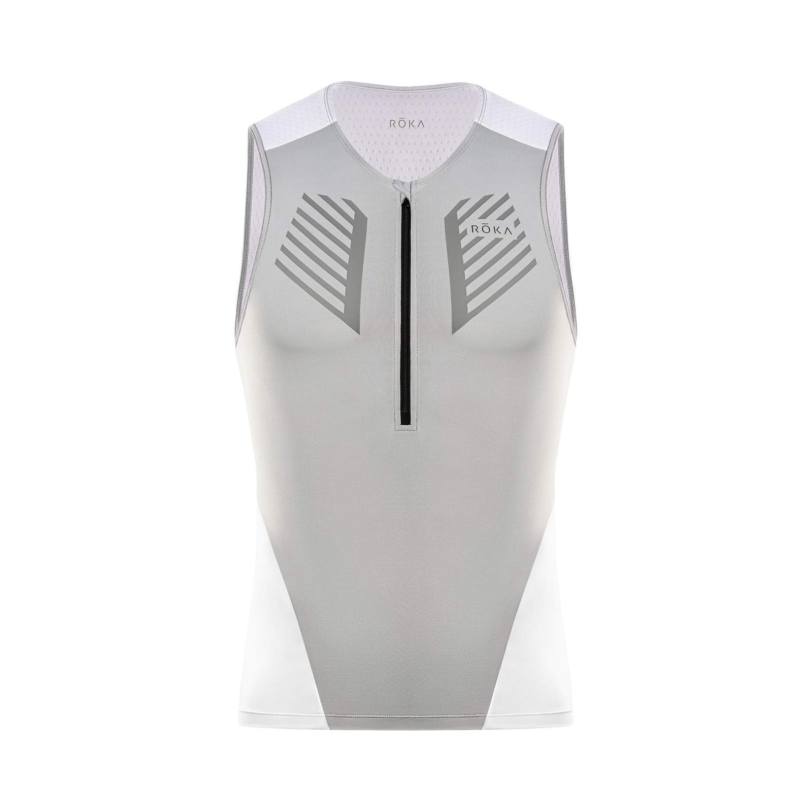 Men's Comp Sleeveless Tri Top - White/Grey