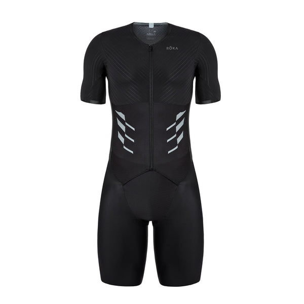 Men's Gen II Elite Aero Short Sleeve Tri Suit - Front View - Fastest Tri Suit