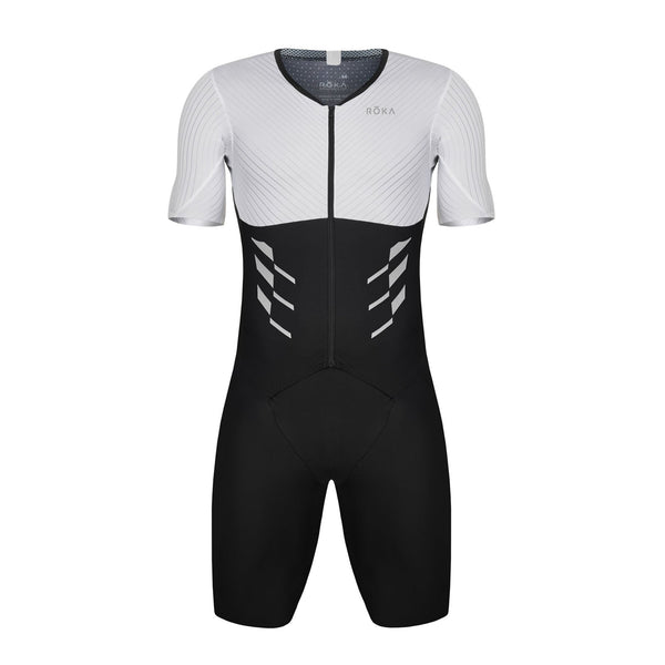 Men's Gen II Elite Aero Short Sleeve Tri Suit - White
