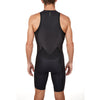 Men's Gen II Elite Aero Sleeveless Tri Suit - Back View on Athlete - Fastest Tri Suit