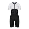 Women's Gen II Elite Aero Short Sleeve Tri Suit - White/Black
