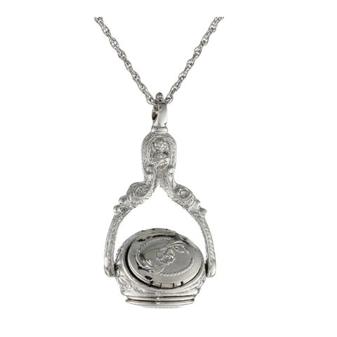 1928 Jewelry Rotating Trio Locket Necklac