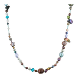 5-11mm Multi-Colored Freshwater Cultured Pearl Endless Necklac