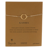 Dogeared Karma Gold-Plated Sterling Silver Circle Bracelet