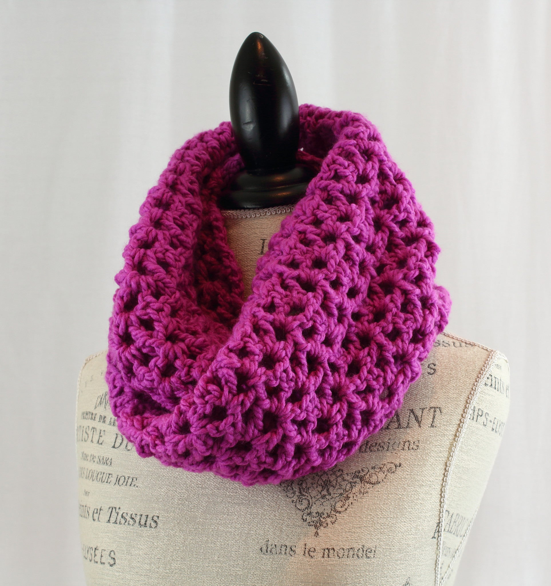 product knit infinity scarf cable pink thumb rose