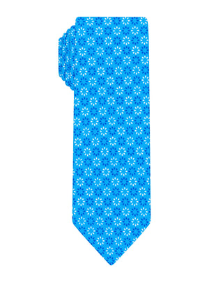 Blue floral printed Boys tie