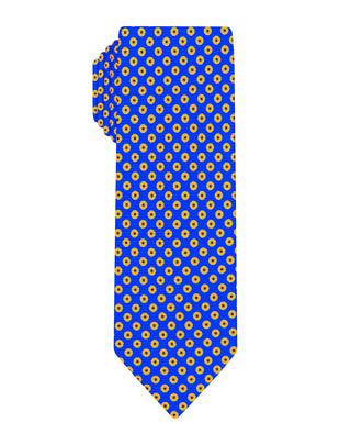 blue halo printed Boys tie