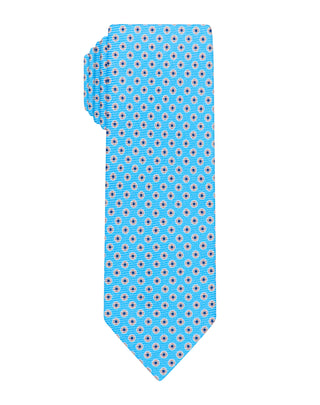 Teal halo printed Boys tie