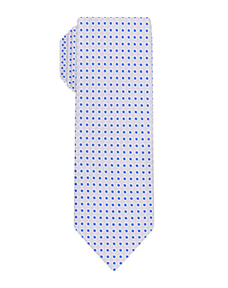 grey dotted woven Boys tie