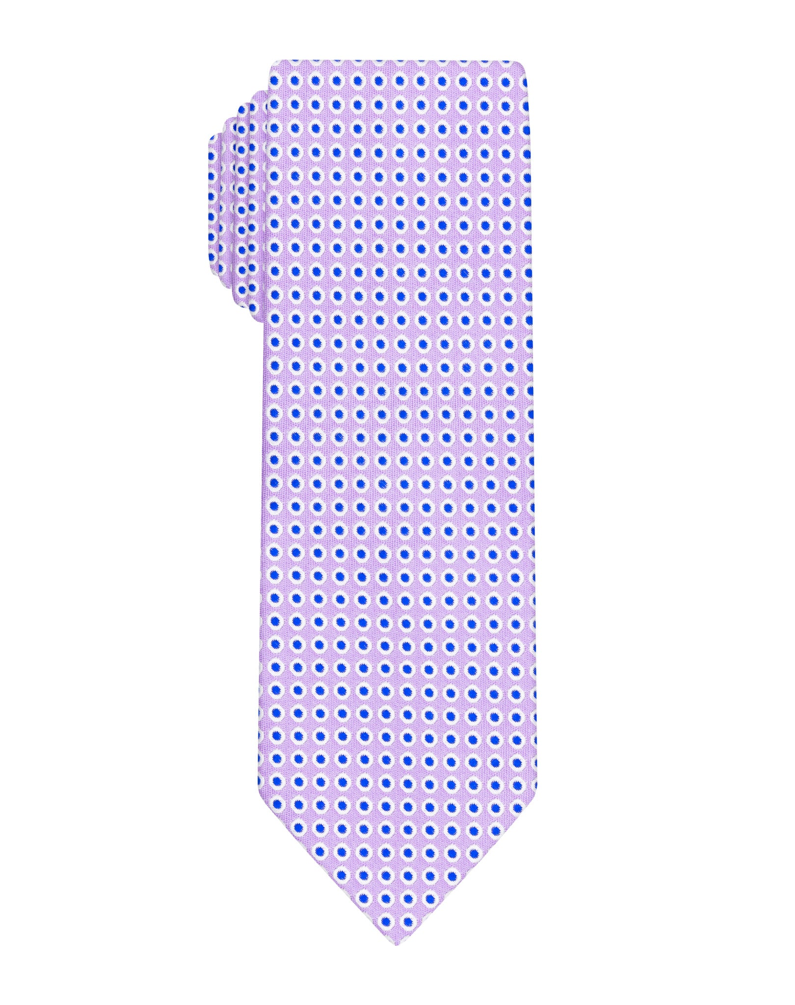 Purple dotted woven Boys tie
