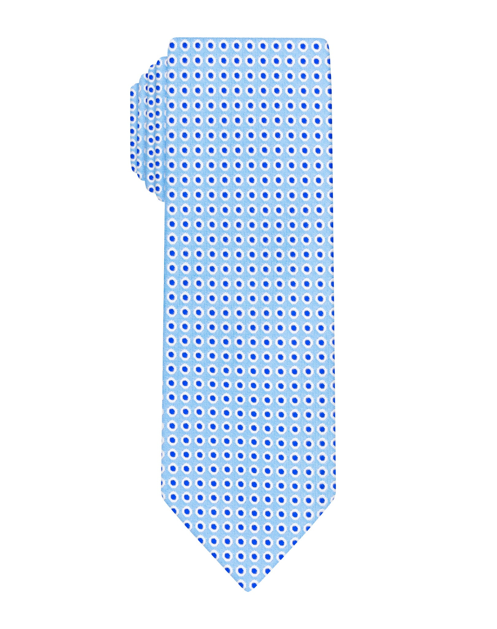 Blue dotted woven Boys tie