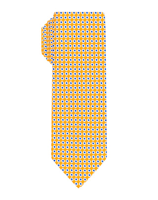 Orange dotted woven Boys tie