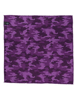 Purple Double Sided Camo Pocket Square
