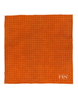 Orange Double Sided Camo Pocket Square
