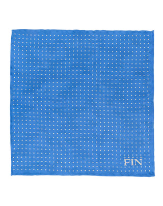 Blue Double Sided Camo Pocket Square