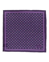 Purple Floral Wool Pocket Square