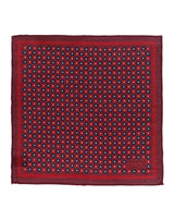Red Floral Wool Pocket Square