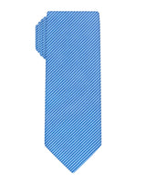 Blue Handprinted Mini Dots Tie