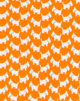 Orange doggy printed Boys tie