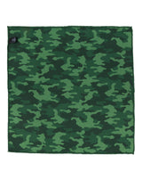 Green Double Sided Camo Pocket Square