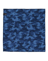 Navy Double Sided Camo Pocket Square