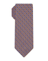 Orange Woven Square Medallion Tie