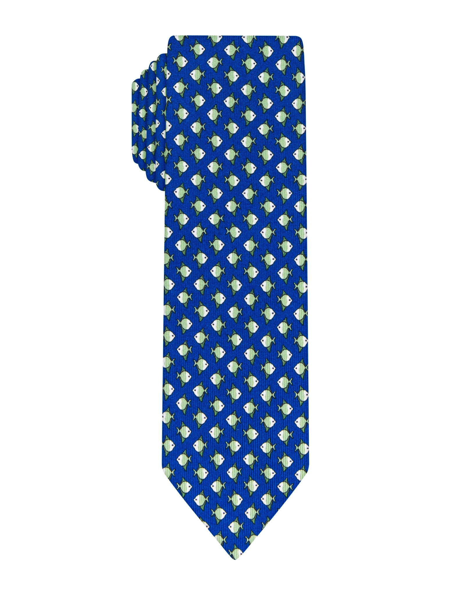 Navy Fish printed Boys tie