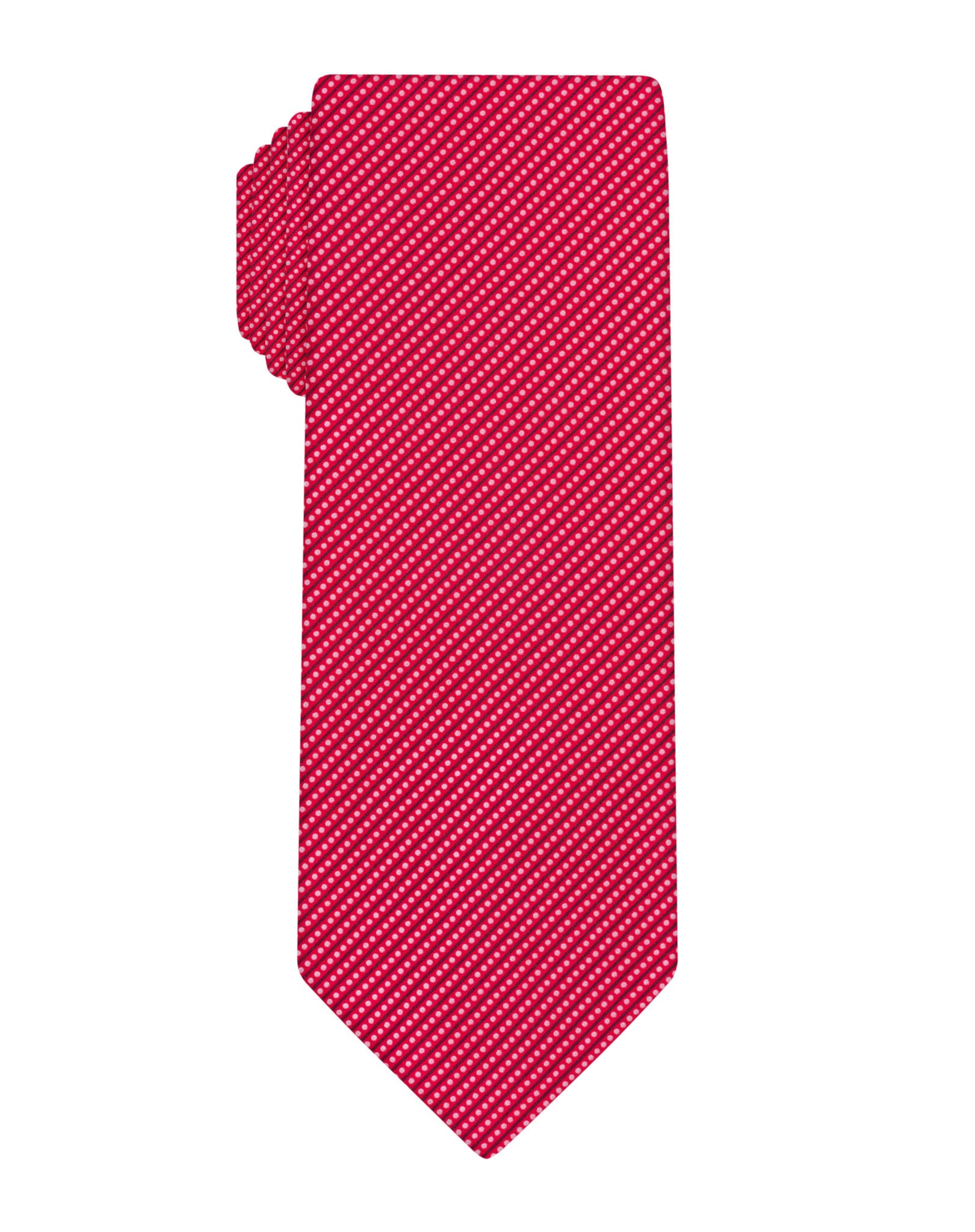 Red Handprinted Mini Dots Tie