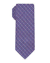 Pink Woven Square Medallion Tie