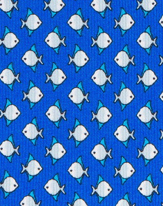Blue Fish printed Boys tie